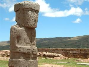 Posąg człowieka w Tiwanaku