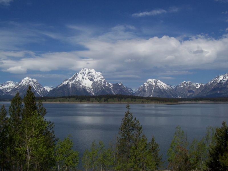 Góry Skaliste, Jackson Lake, Wyoming