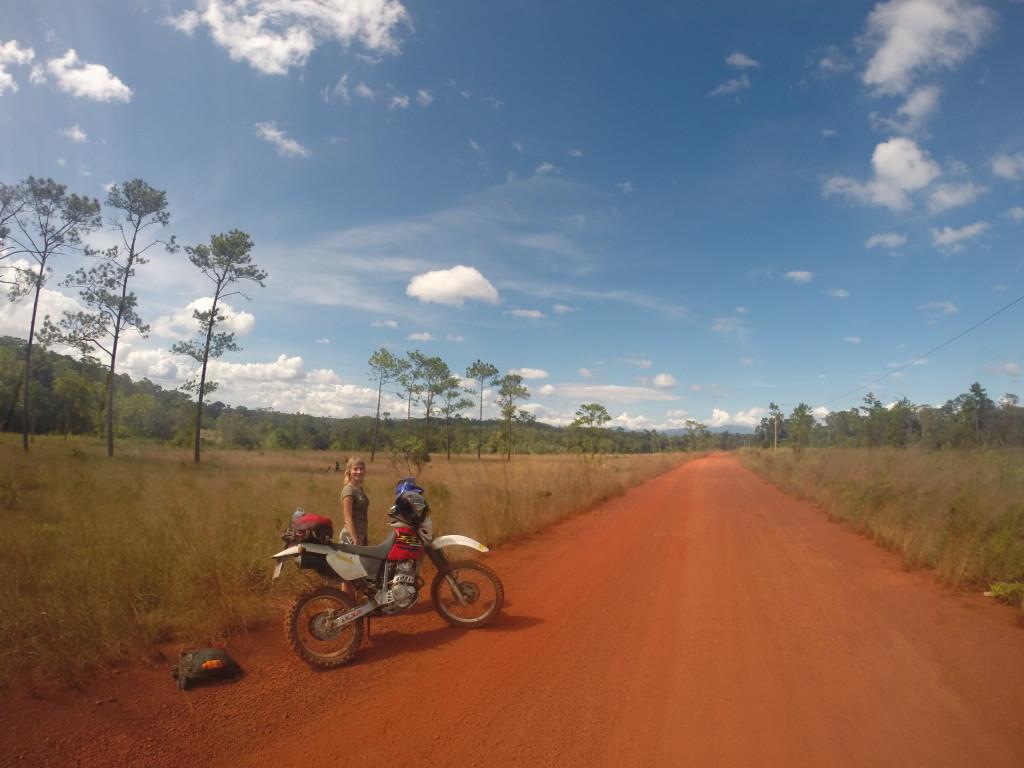 Motocyklem po Kambodży