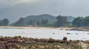Widok na plażę na Lantau, Hongkong