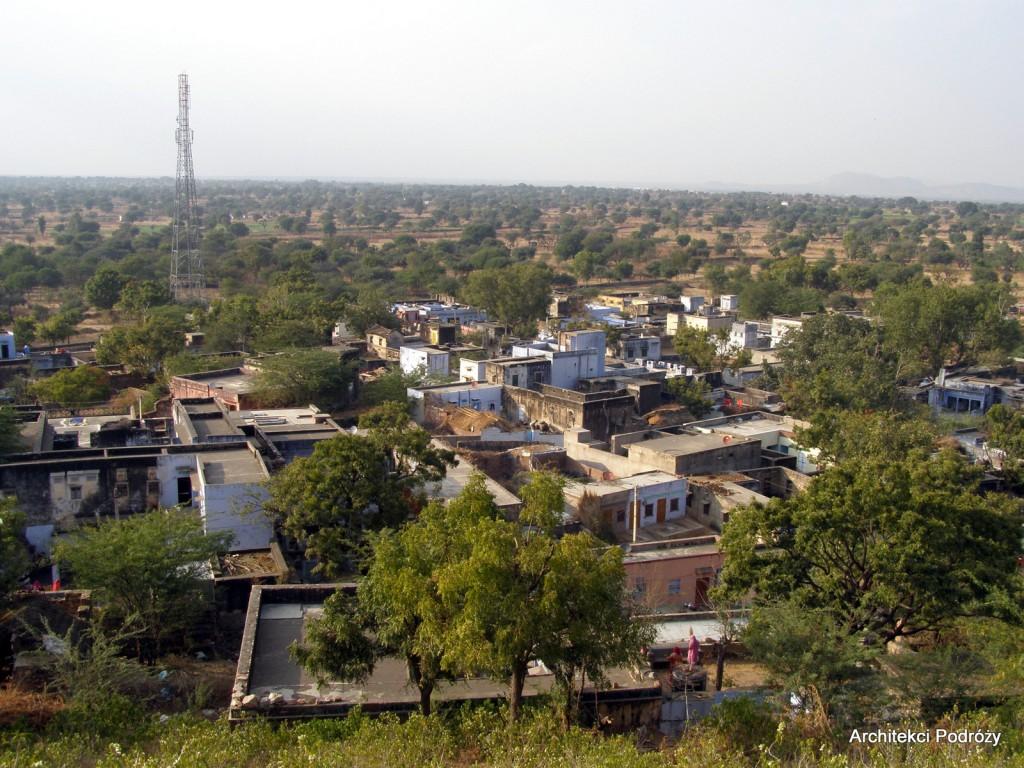 Indyjska wioska - widok