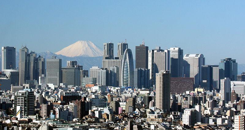 Japonia - widok na Fuji z Tokio