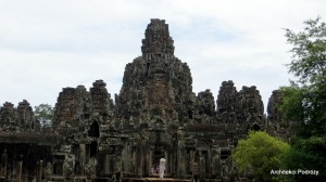 Świątynia w Bayon w Kompleksie Angkoru