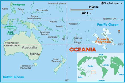 Polinezja Francuska - mapa