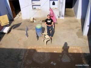 Wiejski dom w Indiach - podwórko