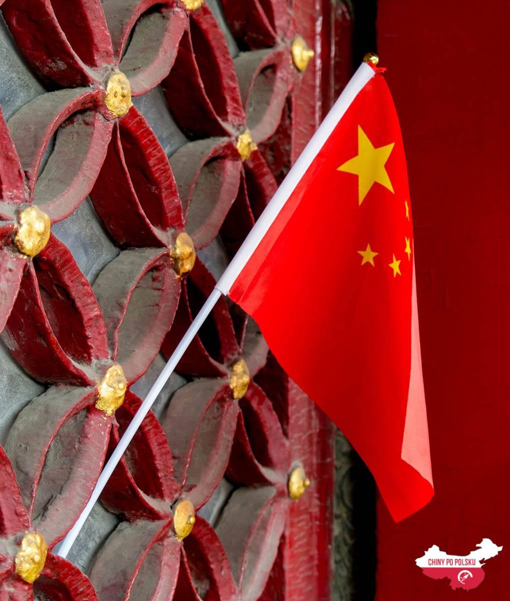 Pekin - Zakazane Miasto - flaga Chin