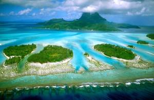 Bora Bora widziana z nieba