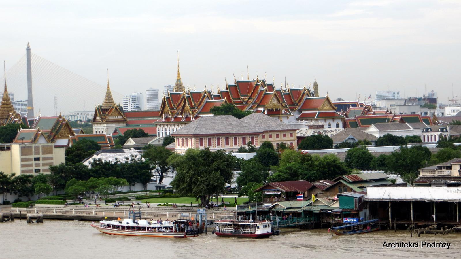 Tajlandia - Bangkok - Widok na Grand Palace