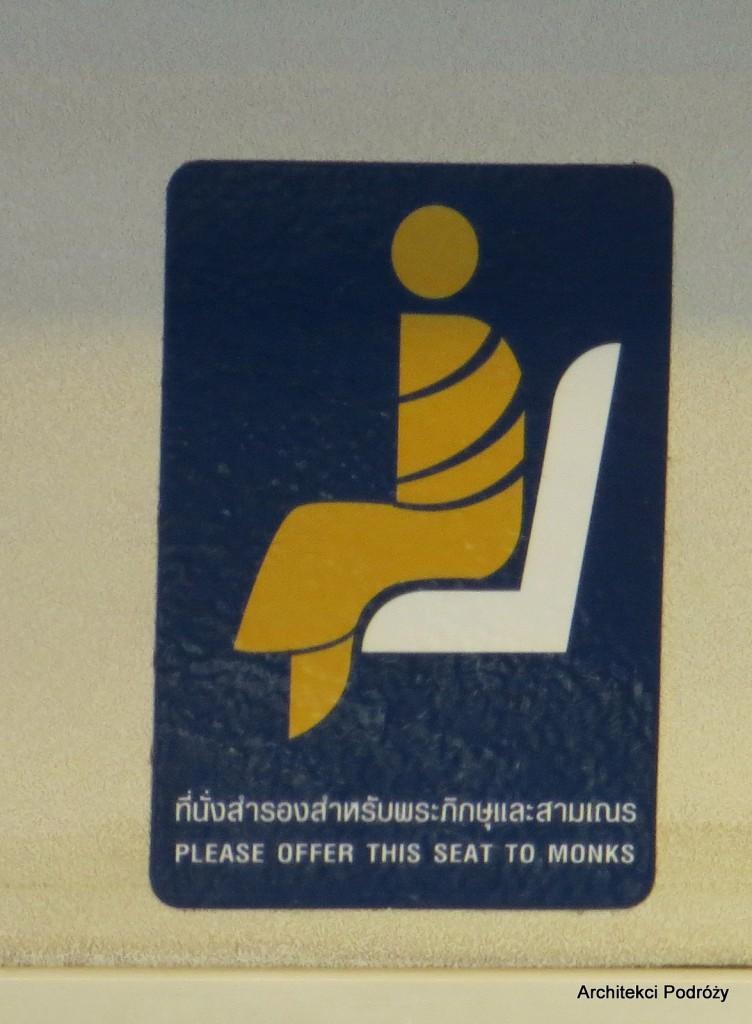 Tajlandia - ustąp mnichowi