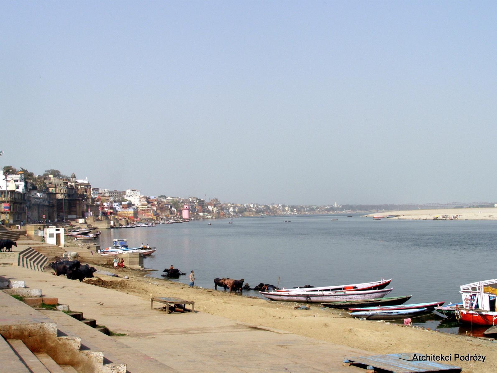 widok na Varanasi i Ganges