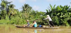 Kanały w delcie Mekongu