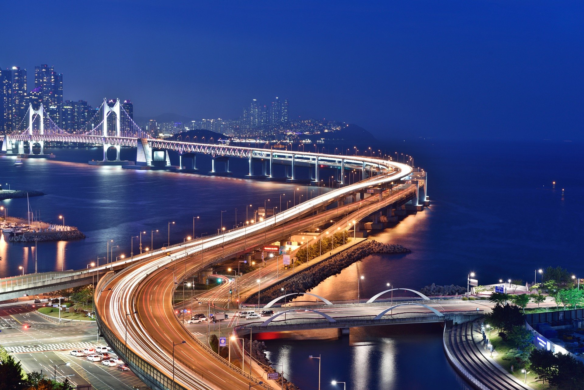 Busan, Kora, nocą