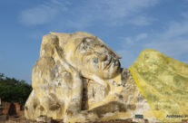 Ayutthaya – leżący  budda