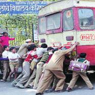 Zepsuty autobus w Indiach