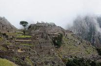 Machu Picchu w Peru o świcie