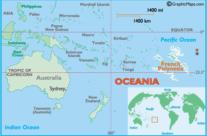 Mapa Polinezji Francuskiej