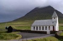 Typowy farerski kościół