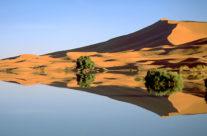 Zwiedzanie Maroko – sezonowe jezioro w Merzouga